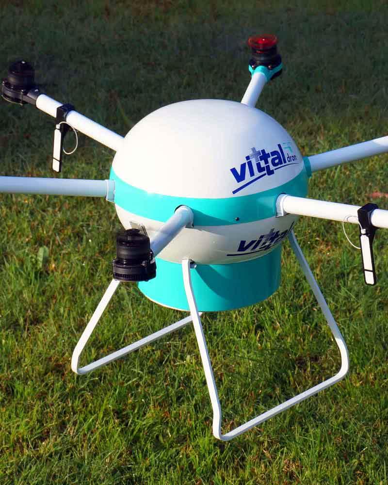 Filmaciónes con Drones drone desfibrilador Vittal
